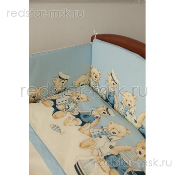 """Lappetti  Бортик """"Морячки"""" (мишки), раз. 120х60 арт. 1005"""