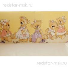"Lappetti  ""В ожидании праздника"" (мишки), сатин, арт. 6010."
