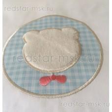 """Lappetti  """"""""Мишкина семейка"""", сатин  универсальный комплект с подушечками для овальной (прямоугольной) кроватки арт. 6037"""