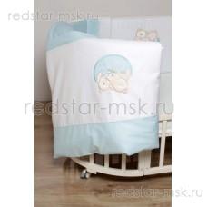 "Lappetti  ""Мишкина семейка"", сатин для овальной кроват с 4 бортиками, арт. 6042"