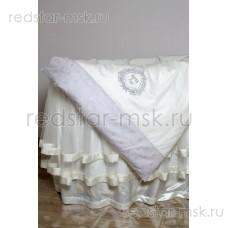 """Lappetti  """"Мой Малыш"""", комплект для овальной кроватки с подушечками, простыня прямая, арт. 6044"""