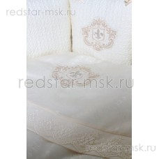 """Lappetti  """"Герб"""", комплект для овальной кроватки с подушечками, простыня прямая, арт. 6045"""