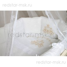 """Lappetti  """"Карета"""", комплект для овальной кроватки с подушечками, простыня прямая, арт. 6046"""
