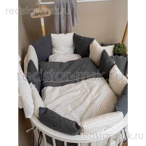 """Комплект Lappetti """"Organic Baby Cotton"""" универсальный 17 предметов арт.6099 сатин."""