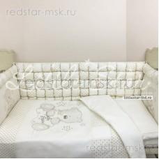 """Набор в кроватку 6 предметов """"Кубики Мишка со звездой"""" 120*60 см."""