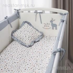 Комплект в кроватку Perina  Little Forest 7 пр. аквамарин