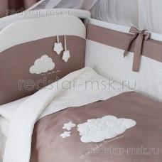 """Комплект в кроватку """"Бамбино Капучино """" Perina 6 предметов"""