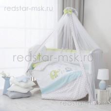 """Комплект в кроватку """"Джунгли"""" Perina 7 предметов"""