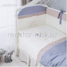 """Комплект в кроватку """"Котята Лазурь"""" Perina 6 предметов"""