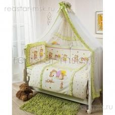 """Комплект в кроватку """"Ника"""" Perina 3 предмета, цвет - зеленый."""