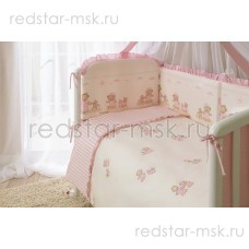 """Комплект в кроватку """"Тиффани Розовая """" Perina 7 предметов"""