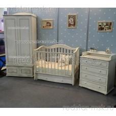 """Детская комната """"Леонардо"""" античный белый"""