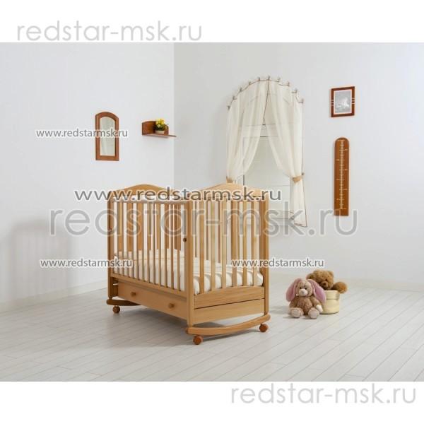 """Детская кроватка """"Симоник"""", цвет: натуральный."""