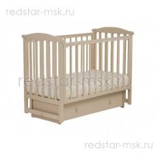 Детская кроватка АБ 15.2 Лютик, цвет: слоновая кость.
