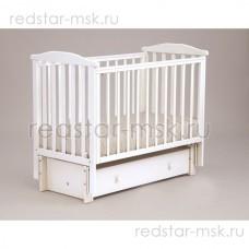 Детская кроватка АБ 15.3 Лютик, цвет: белый.