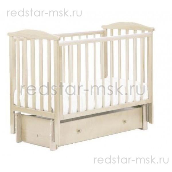 Детская кроватка АБ 15.3 Лютик, цвет: слоновая кость.