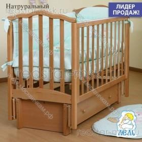 Детская кроватка АБ 19.3 Жасмин, цвет: натуральный.