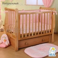 Детская кроватка АБ 21.3 Лаванда, цвет: натуральный.
