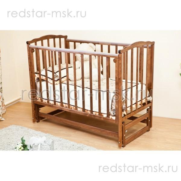 Детская кроватка Красная Звезда (Можга) Кристина С619 продольный маятник без ящика