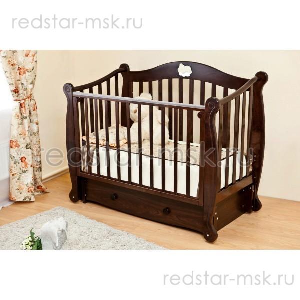 Детская кроватка Красная Звезда (Можга) Кристина С707 продольный маятник с ящиком