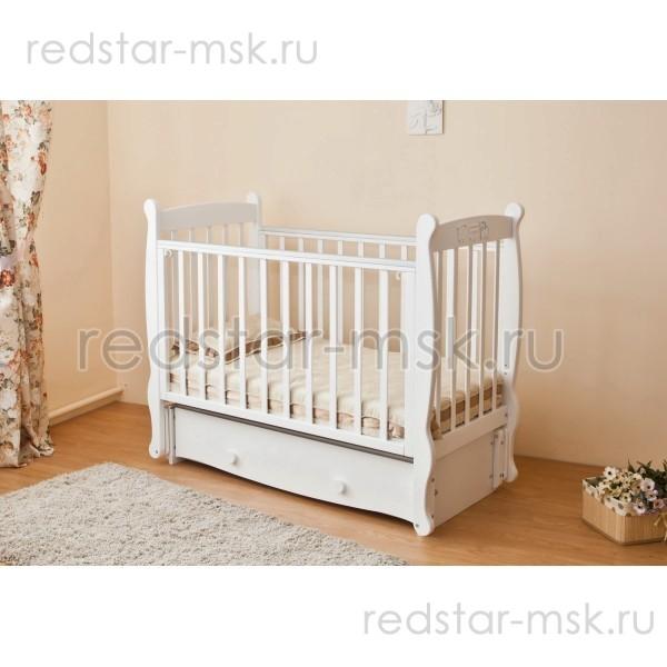 Детская кроватка  Красная Звезда (Можга)  Елисей С717 - накладка паровозики
