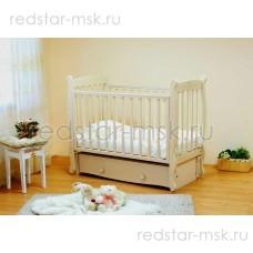 Детская кроватка Елисей С717 резьба  птички