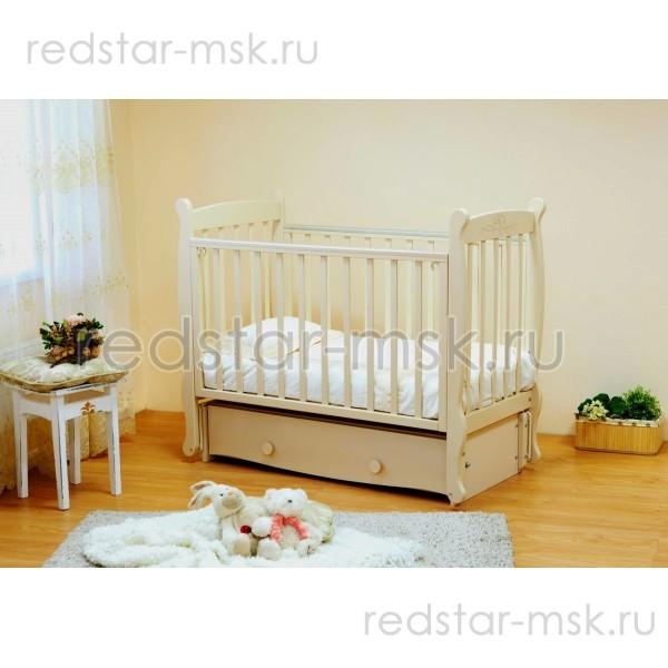 Детская кроватка  Красная Звезда (Можга)  Елисей С717 - резьба птички