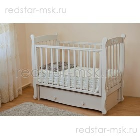 Детская кроватка Елисей С717 - резьба птички