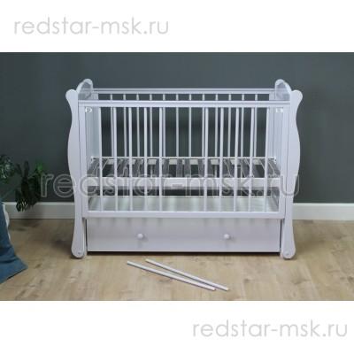 Детская кроватка Красная Звезда г.Можга Уралочка С742 в светло-сером цвете!