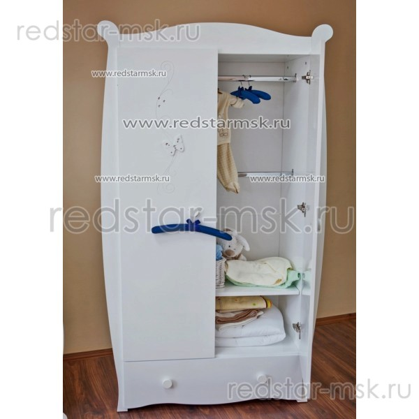 Детский шкаф С538 накладка Бабочки